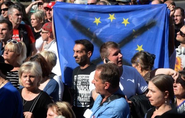 Антимиграционный митинг в Праге, Сентябрь 2015